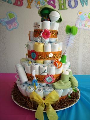 Neutral Gender Diaper Cake
