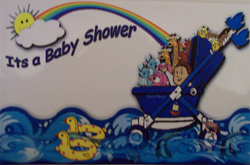 Noahs Ark baby shower invitation