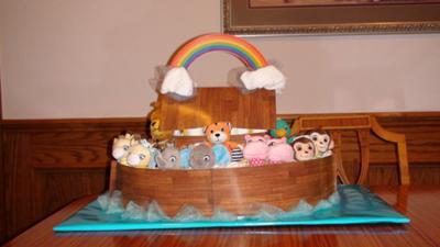 Noah S Ark Diaper Cake