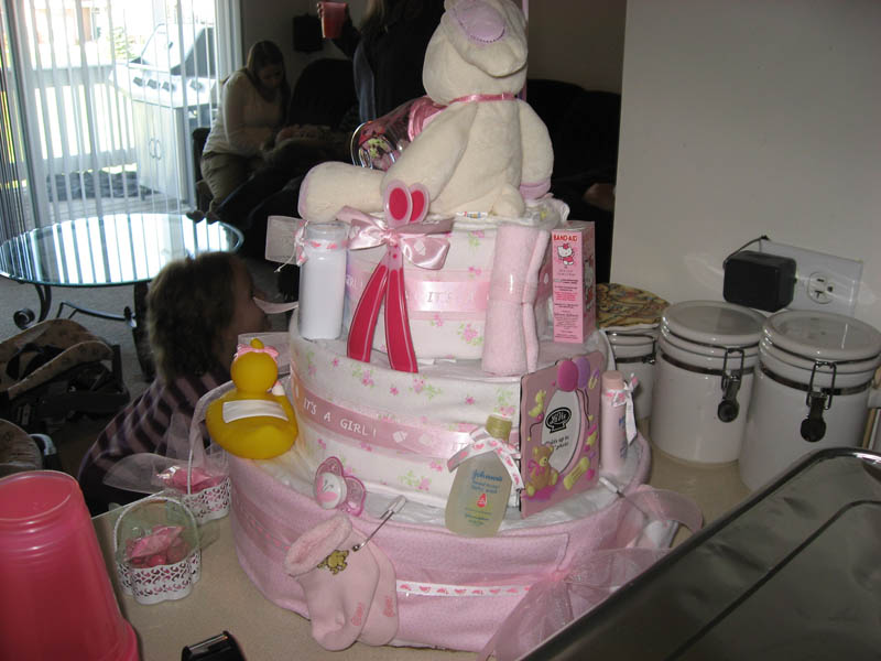 Pink & Girly Diaper Cake