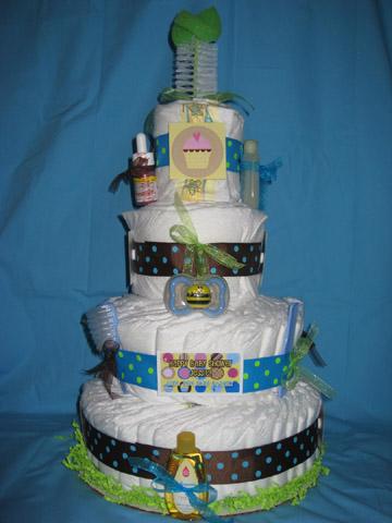 Polka Dot Diaper Cake