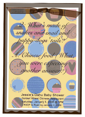 polka dot baby shower invitations