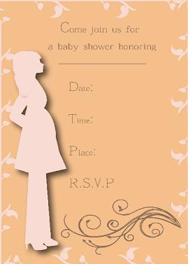 pregnant silhouette shower invites