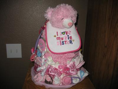 Pretty n Pink Diaper Cake