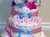 Princess Theme Diaper Cake