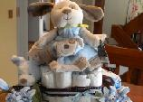 puppy dog diaper cake