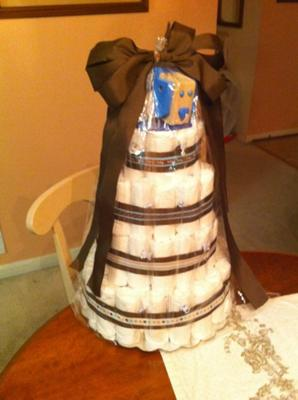 Puppy Love Diaper Cake