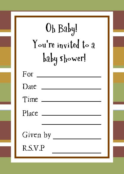 retro sample baby shower invitations