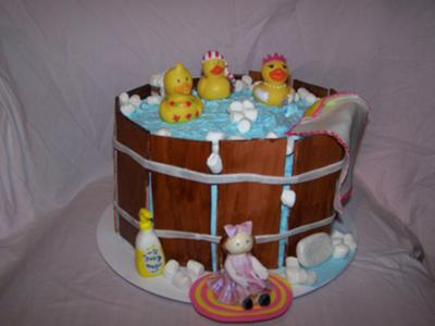Rubber Duckies Baby Shower Cake