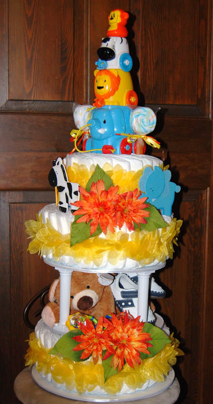 Safari Diaper Cake Safari Baby Shower Cake