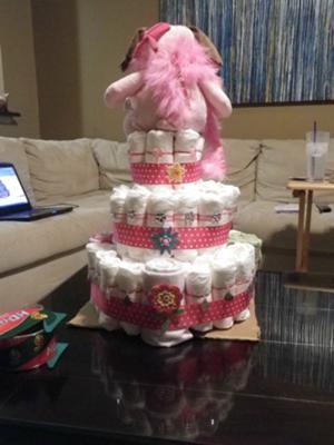back of cake