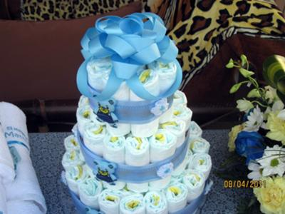 Diaper Cake Ideas For Baby Boy : simple baby boy diaper cake