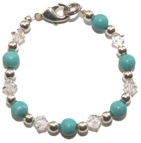 sky blue baby bracelet
