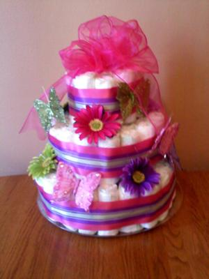 Images Of Butterfly Diaper Cakes