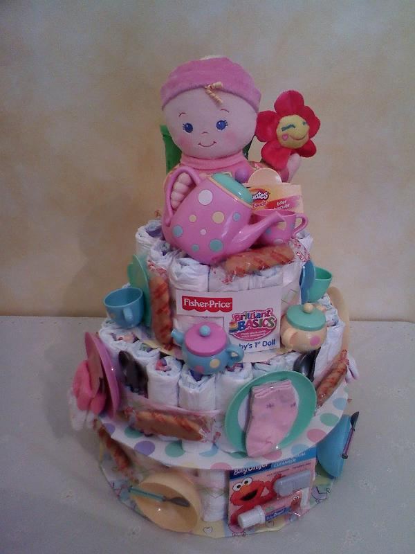 Tea Party diaper cake