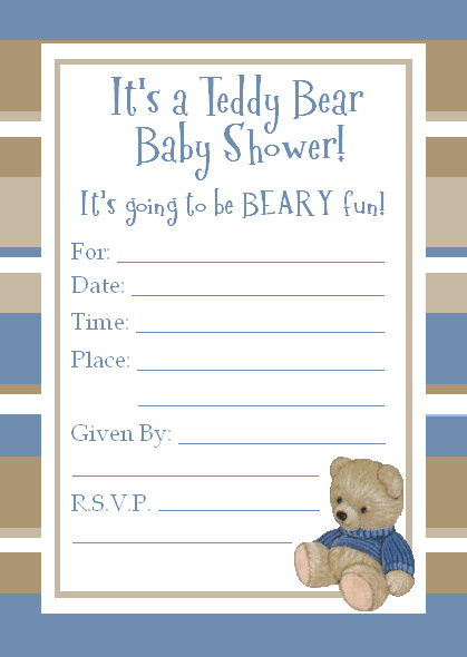 Cute teddy bear baby shower invitations for a baby boy teddy bear invitations teddy bear baby shower invitations filmwisefo