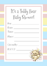 teddy bear baby shower invites