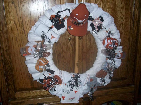 texas longhorn baby wreath