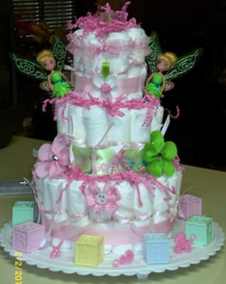 Think Pink Tink Diaper Cake