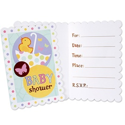 tiny toes baby shower invitations