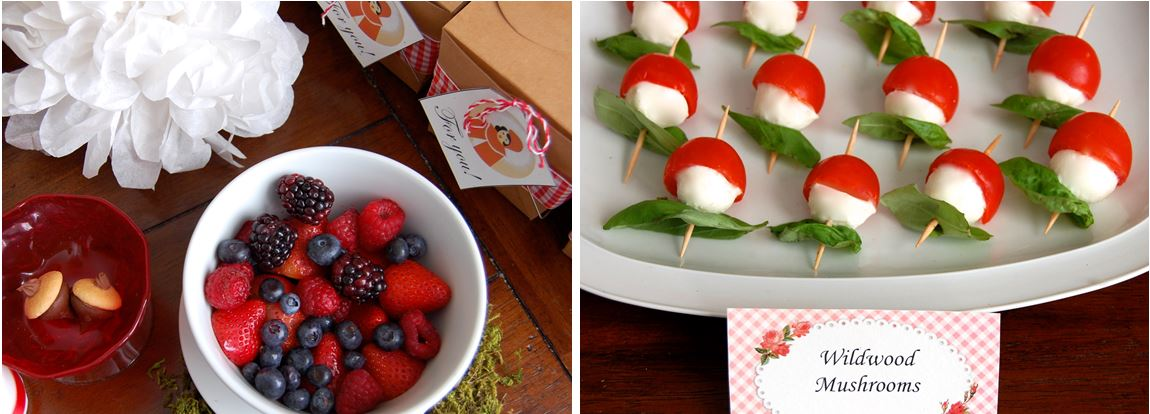Little Red Riding Hood Baby Shower Food Ideas