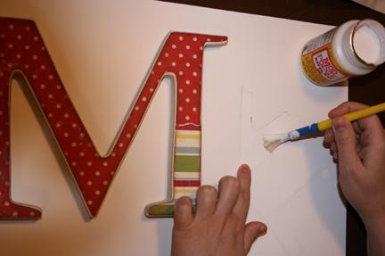 wooden nursery letter
