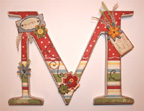 hanging wooden wall letter