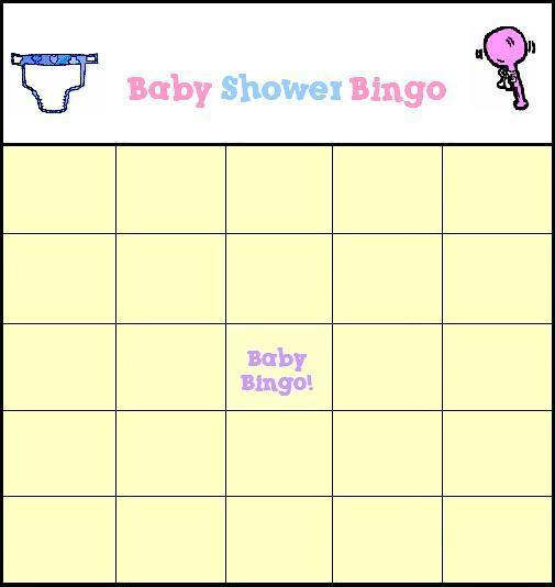 free baby shower bingo game