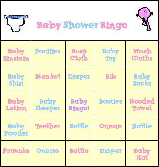 Free Baby Shower Bingo