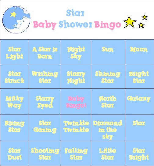 A Star is Born Baby Shower Game!