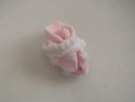 baby sock flower bouquet