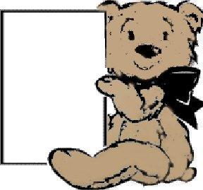 Teddy Bear Baby Shower Favor Card