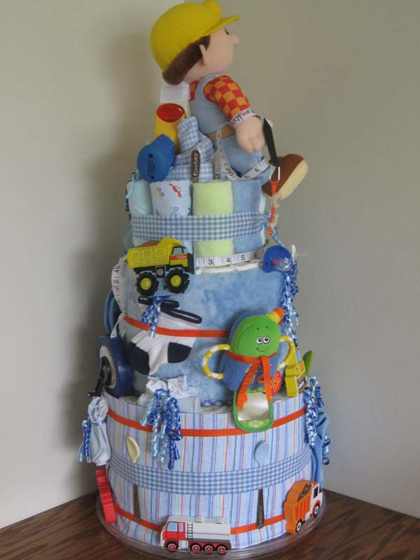 Under Construction Diaper Cake What An Adorable Diaper