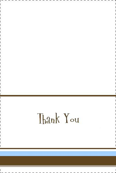 baby shower thank you card