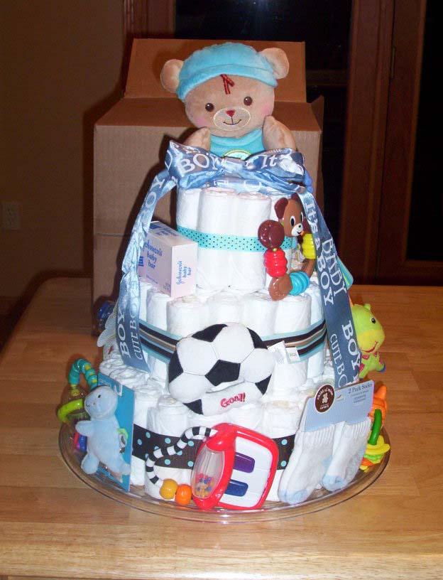Cute Boy diaper cake