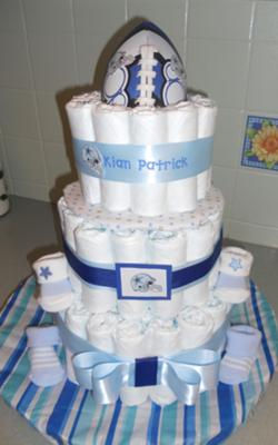 dallas cowboys themed diaper cake