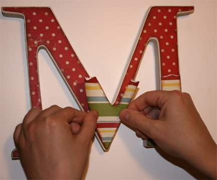 how to make a personalized wooden letter