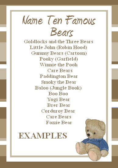 free teddy bear game is a help to you in your bear party planning