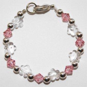 flower garden baby bracelet