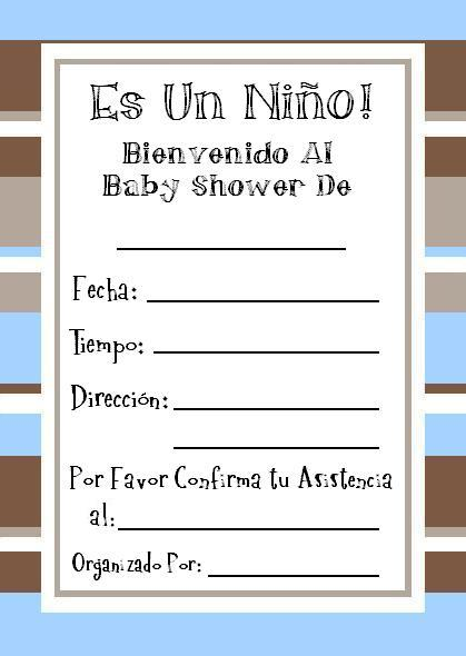 Gratis Invitaciones Baby Shower