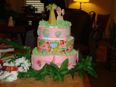 Side view of cake