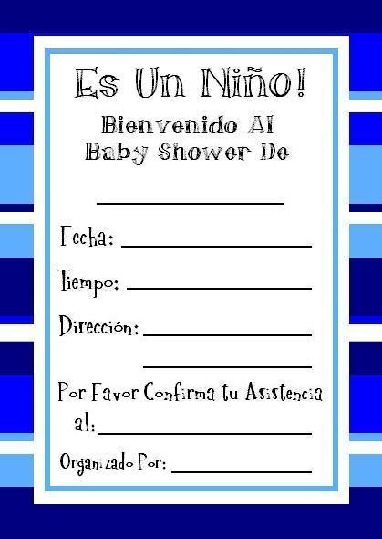 Gratis modelos de invitaciones para baby shower