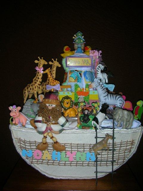 Noahs Ark diaper cake