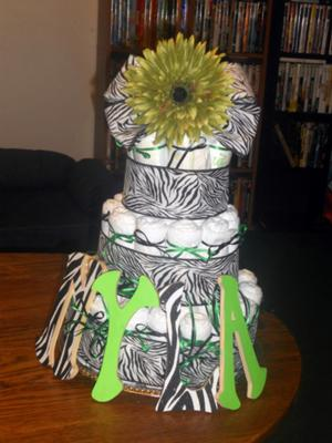 Nyla Jade's Diaper cake!