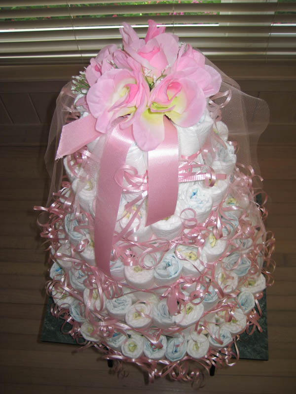 five tier diaper cake