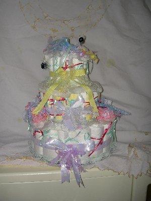 preemie diaper cake for twins