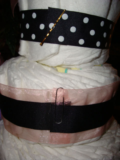 Rose Diaper Cake