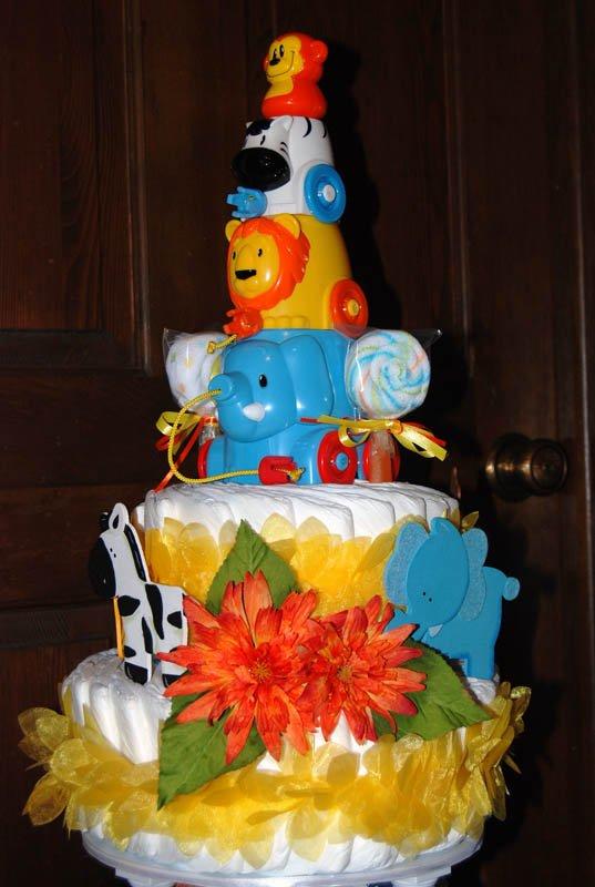Safari Diaper Cake
