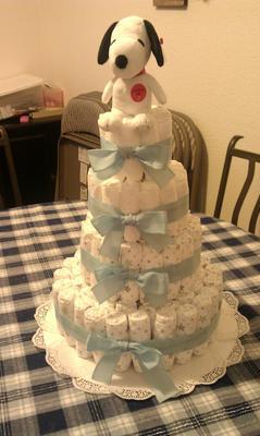 4 Tier Snoopy Cake