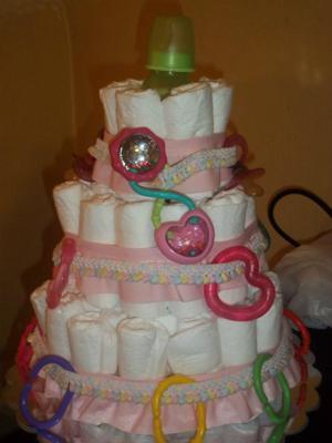All three tiers with decorations